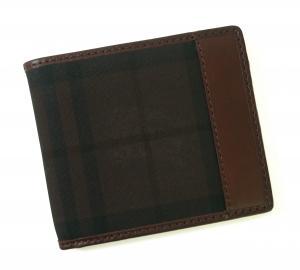 バーバリー 財布 札入れ メンズ ホースフェリー チェック 二つ折 マホガニーレッド