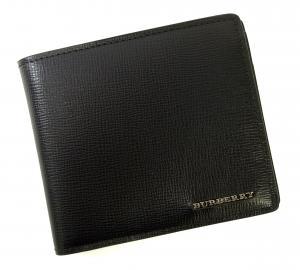 バーバリー 財布 メンズ ロンドンレザー 二つ折り (ダークネイビー)