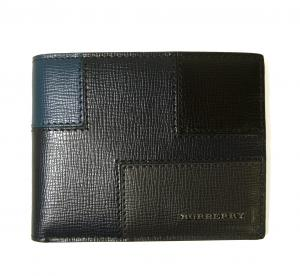 バーバリー 財布 札入れ メンズ ロンドンレザー カラーブロック *小銭入れなし