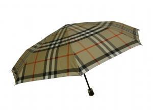 バーバリー 傘 折り畳み かさ アンブレラ バーバリーチェック (キャメル)