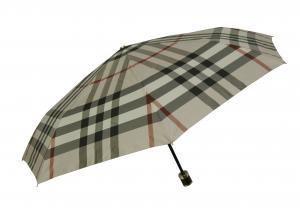 バーバリー 傘 折り畳み かさ アンブレラ バーバリーチェック (ストーン)