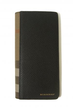 バーバリー 長財布 二つ折 ハウスチェック グレイニーレザー(ブラック) MainPhoto