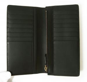 No.3 長財布 二つ折 ハウスチェック グレイニーレザー(ブラック)