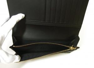 No.5 長財布 二つ折 ハウスチェック グレイニーレザー(ブラック)