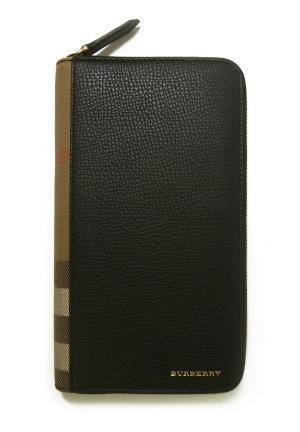 バーバリー 長財布 ファスナー トラベル ハウスチェック *大きめサイズ