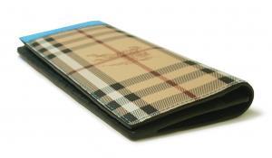 No.4 長財布 メンズ カード大容量 二つ折り ヘイマーケット ブライトブルー