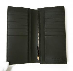 No.4 <訳あり・アウトレット>長財布 メンズ カード大容量 二つ折り ヘイマーケット ブラック