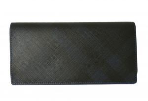 No.2 長財布 メンズ カード大容量  ロンドンチェック(ネイビー×ブルー)