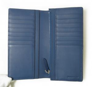 No.4 長財布 メンズ カード大容量  ロンドンチェック(ネイビー×ブルー)