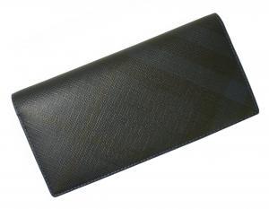 No.7 長財布 メンズ カード大容量  ロンドンチェック(ネイビー×ブルー)