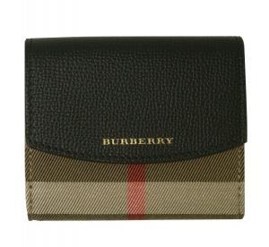 バーバリー 財布 レディース ハウスチェック ダービー DERBY(ブラック)