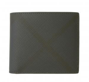 バーバリー 財布 メンズ 二つ折 ロンドンチェック(ネイビー)