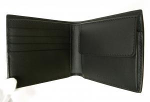 No.4 財布 メンズ 二つ折 ロンドンレザー(ブラック)