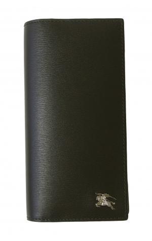 バーバリー 長財布 メンズ 二つ折 カード大容量 ロンドンレザー(ブラック)