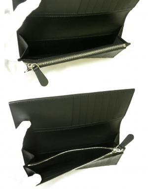 No.6 長財布 メンズ 二つ折 カード大容量 ロンドンレザー(ブラック)