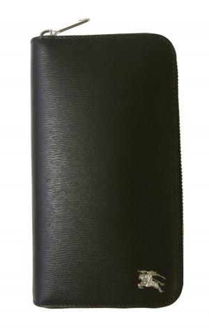 バーバリー 財布 メンズ 長財布 ファスナー ロンドンレザー(ブラック)