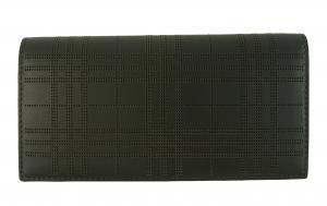 No.2 長財布 メンズ 二つ折 カード大容量 パーフォレーテッドチェック