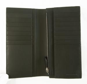 No.3 長財布 メンズ 二つ折 カード大容量 パーフォレーテッドチェック