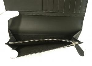 No.6 長財布 メンズ 二つ折 カード大容量 パーフォレーテッドチェック