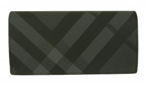No.2 長財布 メンズ カード大容量 二つ折り ロンドンチェック(チャコール)