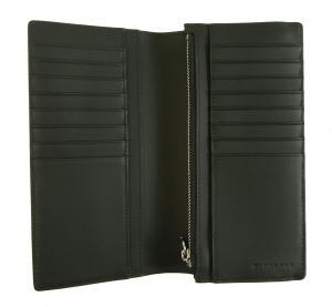 No.3 長財布 メンズ カード大容量 二つ折り ロンドンチェック(チャコール)