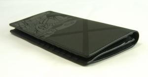 No.7 長財布 メンズ カード大容量 二つ折り ロンドンチェック(チャコール)
