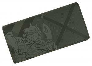 No.8 長財布 メンズ カード大容量 二つ折り ロンドンチェック(チャコール)