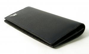 No.3 長財布 メンズ 二つ折 カード大容量 ロンドンレザー(ネイビー)
