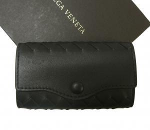 ボッテガヴェネタ キーケース イントレチャート 4連 羊革 (ブラック)