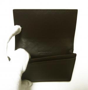 No.4 名刺入れ カードケース イントレチャート 牛革 ダークブラウン