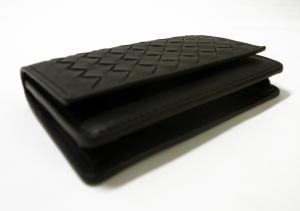 No.3 名刺入れ カードケース イントレチャート 羊革 (ブラック)