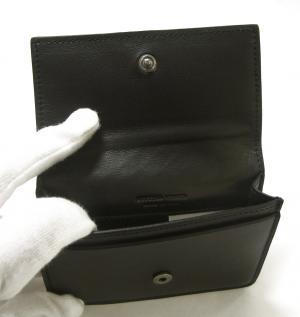 No.4 名刺入れ カードケース イントレチャート 羊革 (ブラック)