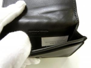 No.5 名刺入れ カードケース イントレチャート 羊革 (ブラック)