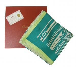 カルティエ スカーフ シルク 90×90サイズ (ターコイズ)