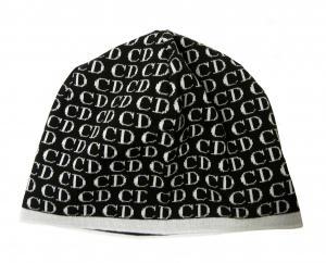 クリスチャンディオール ニットキャップ 帽子 (ブラック+ホワイト)