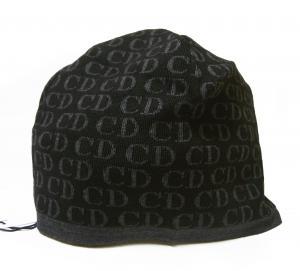 No.4 ニットキャップ 帽子 (ブラック+グレー)
