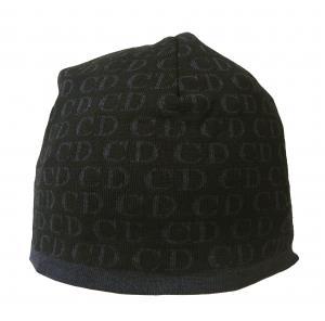 No.5 ニットキャップ 帽子 (ブラック+ブルーグレー)