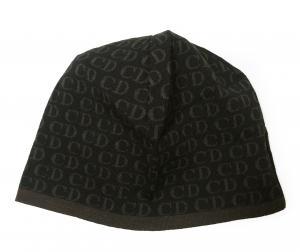 クリスチャンディオール ニットキャップ 帽子 (ブラック+ダークブラウン) MainPhoto