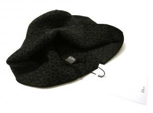 No.2 ニットキャップ 帽子 (ブラック+グレー)