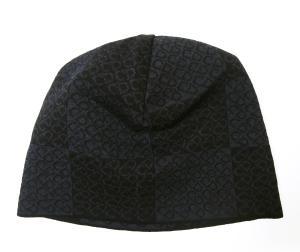 クリスチャンディオール ニットキャップ 帽子 (ブラック+ブルーグレー)