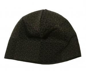 クリスチャンディオール ニットキャップ 帽子 (ブラック+ダークブラウン)