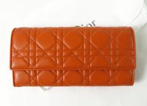 クリスチャンディオール 財布 レディース ミニクラッチウォレット (オレンジ) LADYDIOR