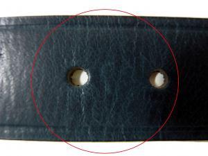 No.7  <訳あり・アウトレット>ベルト メンズ 長さ調整不可 レザー (ブルー)34インチ(ウエスト周り約82〜92cm)