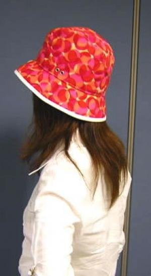 No.6   帽子 カレイドスコープ ハット (コーラル)