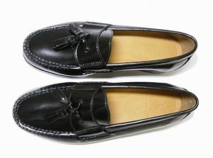 No.2 靴 メンズ ナイキ タッセルシューズ(ブラック)9.5(日本サイズ約27.5cm)