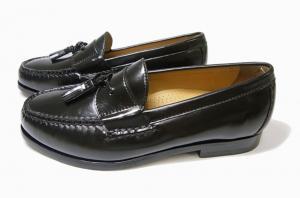 No.3 靴 メンズ ナイキ タッセルシューズ(ブラック)9.5(日本サイズ約27.5cm)