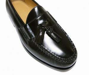 No.5 靴 メンズ ナイキ タッセルシューズ(ブラック)9.5(日本サイズ約27.5cm)