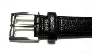 No.3 ベルト 長さ調整不可 AULDEN レザー (ブラック) 36インチ(ウエスト周り約88.5〜98.5cm)