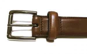 No.3 ベルト レザー (ブラウン) 38(91.5-101.5cm) 長さ調整不可 COLE