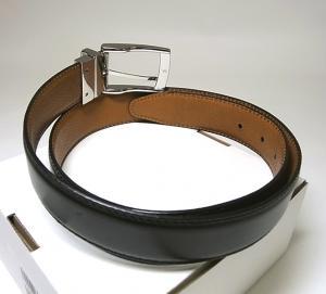 No.2 <訳あり・アウトレット>ベルト リバーシブル 回転バックル メンズ 85(34インチ) 長さ調整不可 レザー
